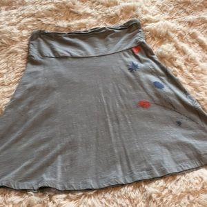 Horny Toad Toad & Co Gray Travel Skirt
